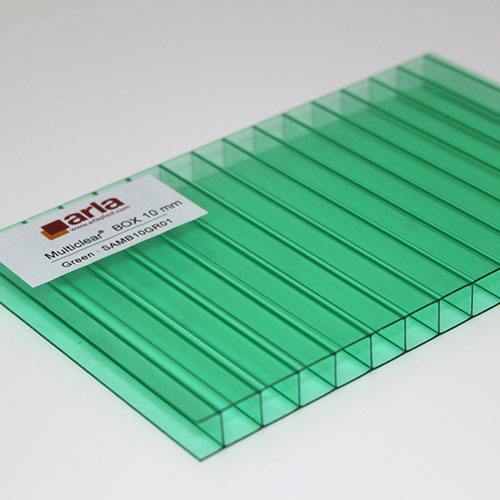 polycarbonate multi clear 2 wall sheets